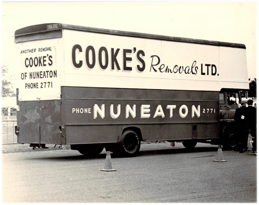 Nuneaton. Cooke's Removals Ltd, c.1968 | Image courtesy of Leon Spencer, supplied by Nuneaton Memories