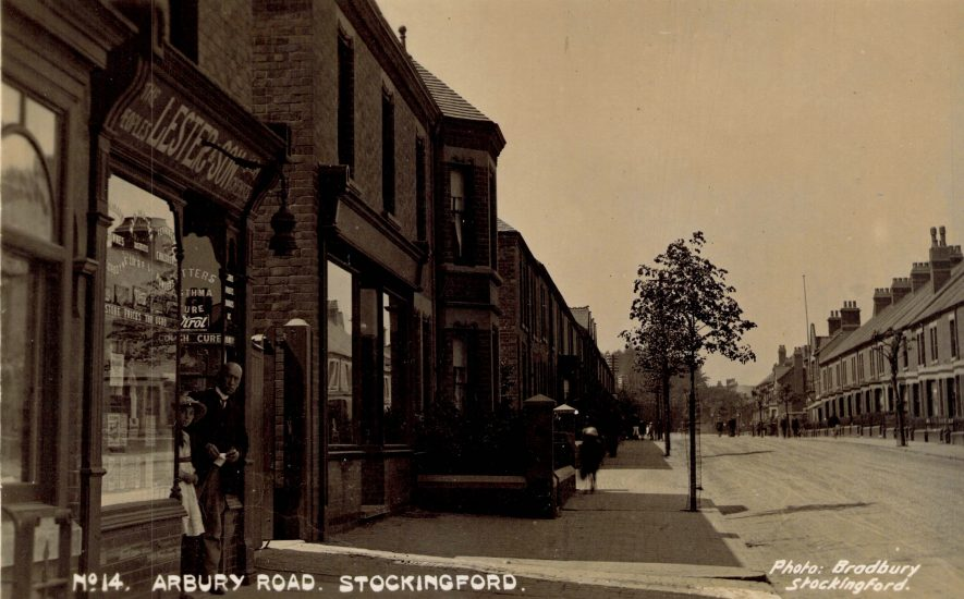 Stockingford. Arbury Road, c. 1920s | Image courtesy of Michael Short, supplied by Nuneaton Memories