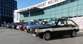 An impressive assembly of Sunbeam Lotus cars for the 40th anniversary celebrations at Coventry Transport Museum, 26/2/2019. | Image courtesy of Nick Maltby