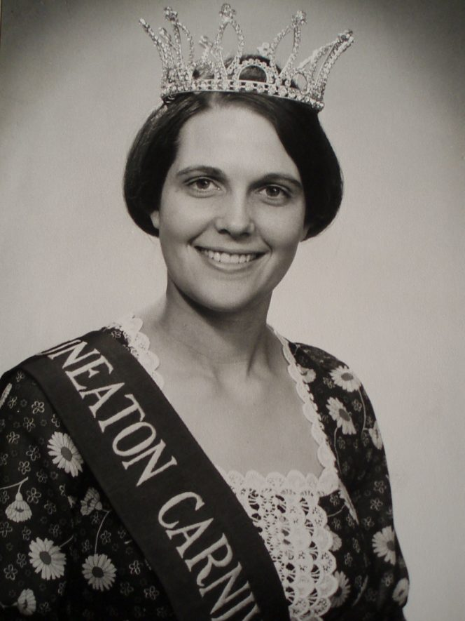 Nuneaton. Carol Mallabone, Carnival Queen, 1971. | Image courtesy of Sarah Hopkins