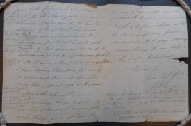 Letter to the Rev. Beresford from JH Long | Warwickshire County Record Office reference DR308/23