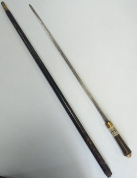 The walking stick / sword given to Keith Ranu by his father. | Image courtesy of Keith Ranu