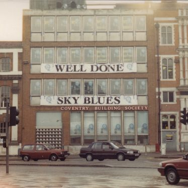 Coventry Building Society's encouraging message, 1987. | Image courtesy of Caroline Sampson