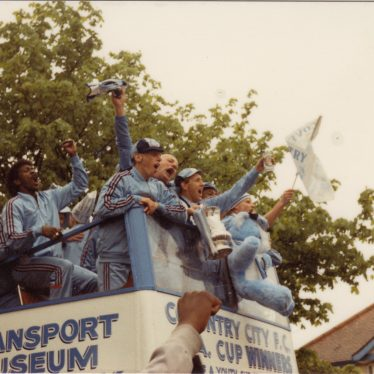 The FA Cup proudly on display, May 17th 1987. | Image courtesy of Caroline Sampson