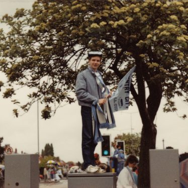 Chris Sampson during Coventry City's victory parade, May 17th 1987. | Image courtesy of Caroline Sampson
