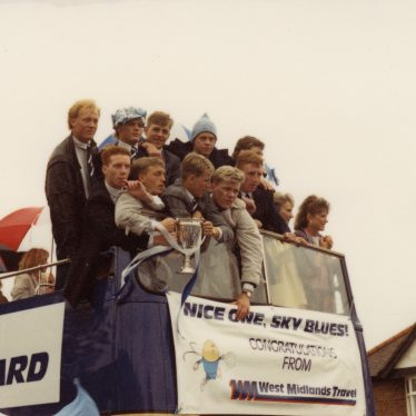 The City youth team also won their cup in 1987. Here they are on the parade. | Image courtesy of Caroline Sampson
