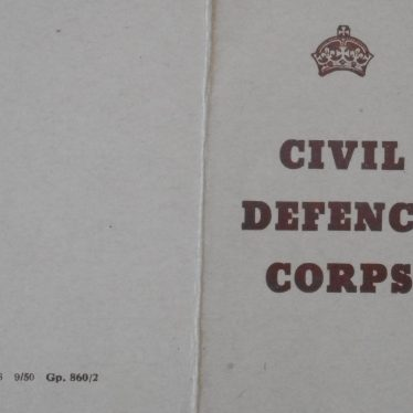 Warwickshire in 100 Objects: Civil Defence Corps Certificate of Enrolment