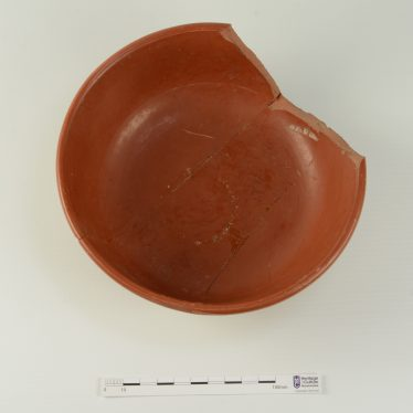 Roman samian bowl. Above view. | Image courtesy of Warwickshire Museum