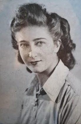 Rose Evelyn Milligan later after she married her husband, who had the picture drawn by a POW in Germany from a photo before she joined him there. | Image courtesy of Rose Evelyn Milligan