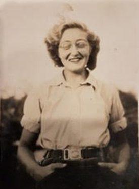 Rose Evelyn Milligan in her uniform at home on leave. | Image courtesy of Rose Evelyn Milligan