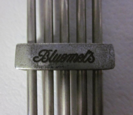 An early Bluemels logo spacer | Image courtesy of Jonathan Kinghorn