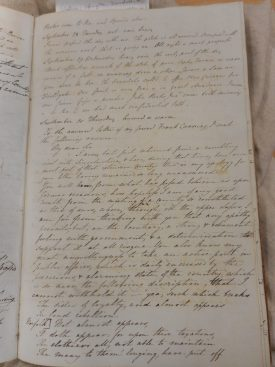 Journal of Bertie Greathead | Warwickshire County Record Office reference CR1707/123