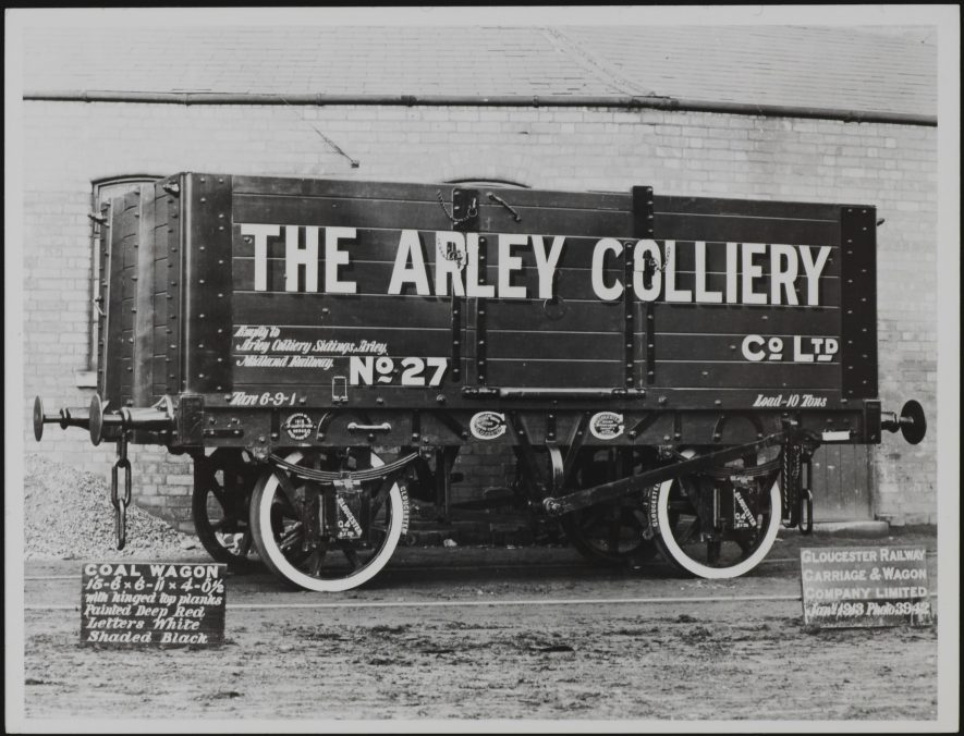 Arley Colliery Wagon, 1913 | Warwickshire County Record Office reference PH1035/C7774