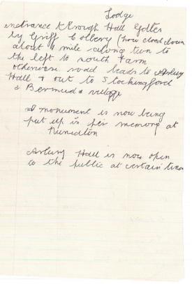 Letter from Granny Wilson, Mabel Wilson, written in 1992. | Image courtesy of  Richard Hancock