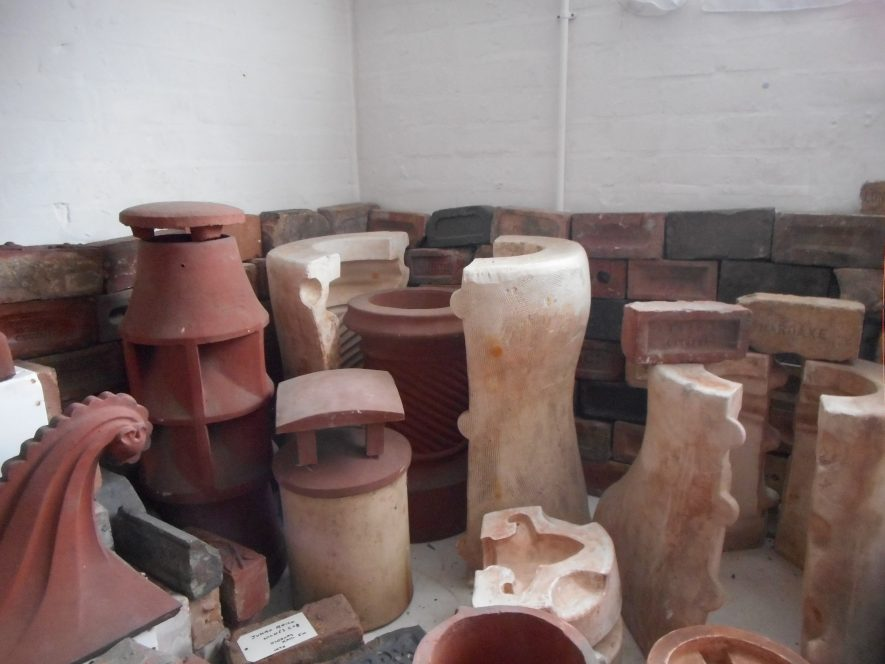 Assorted bricks, moulds and other items rescued from the Stanley Brothers Brickyard when it closed | Image courtesy of Chilvers Coton Heritage Centre