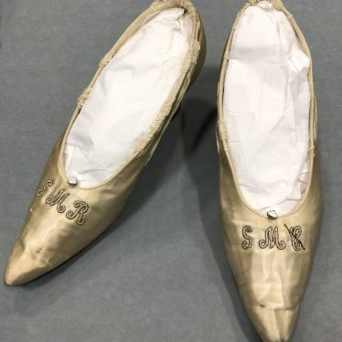 Warwickshire in 100 Objects: Pair of Wedding Shoes