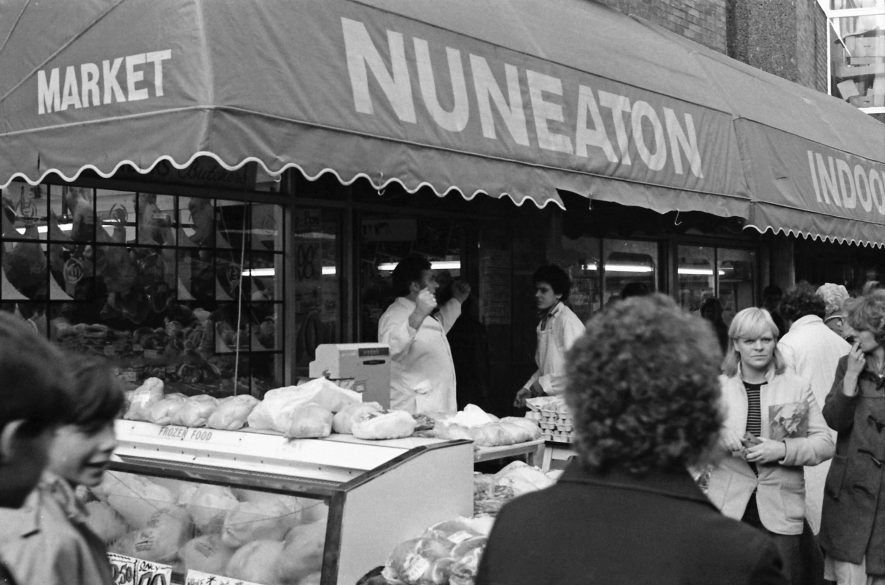 Nuneaton. Heron Way (Indoor Market) | Image courtesy of Fred Hands, supplied by Nuneaton Memories.