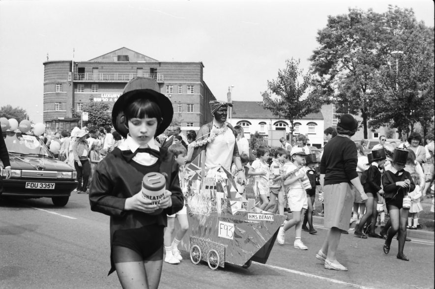 Nuneaton. Carnival, 1987 | Image courtesy of Fred Hands, supplied by Nuneaton Memories.
