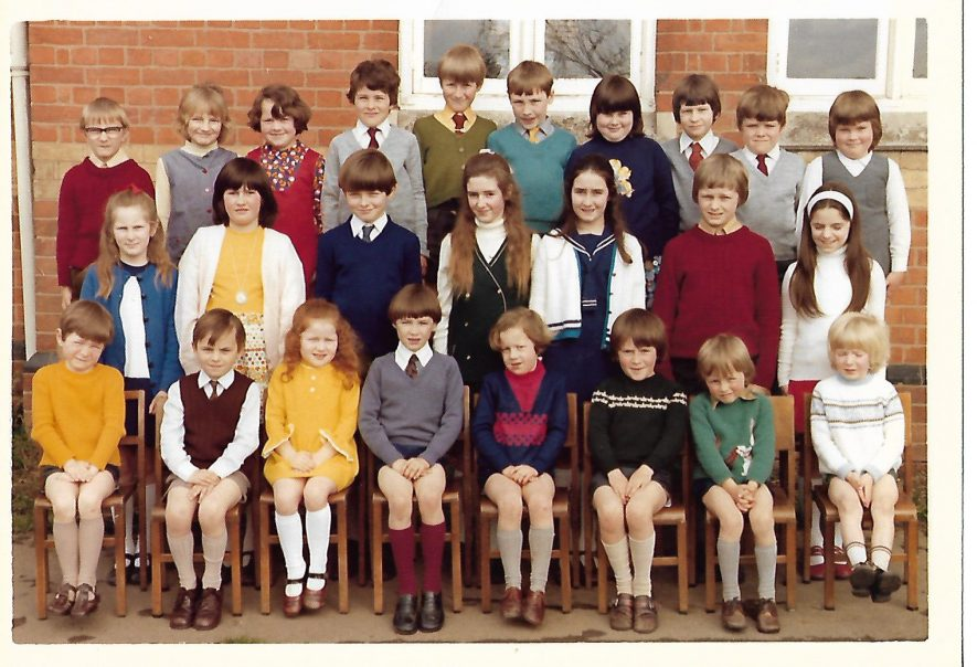 Ashorne Primary School.This was taken outside the front of the school, which is now a private dwelling house, in the Trinity Term of either 1974 or 1975 (probably the former). The school itself closed down at the end of the Trinity Term in 1975. | Image courtesy of Gary Stocker