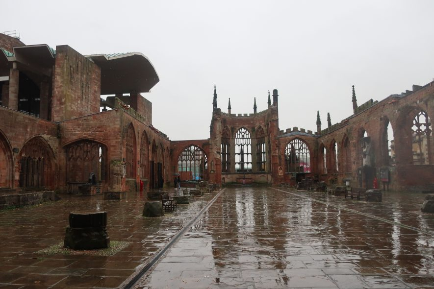 Coventry Cathedral, facing south. 2019 | Image courtesy of Gary Stocker