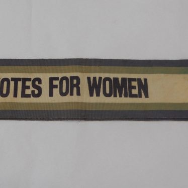 Warwickshire in 100 Objects: Suffragette Sash