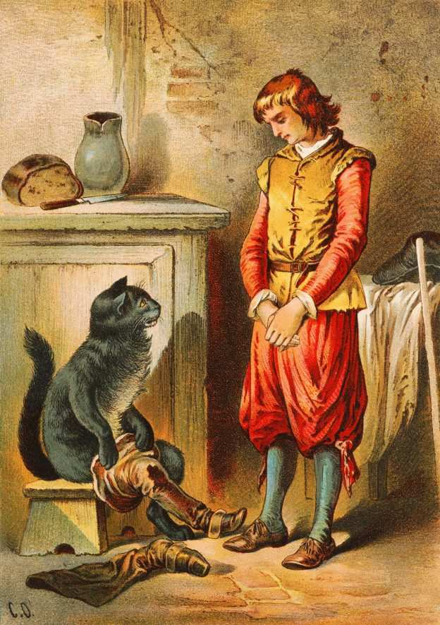 Puss in Boots illustration by Carl Offterdinger, end of 19th century. | Carl Offterdinger, uploaded to Wikipedia