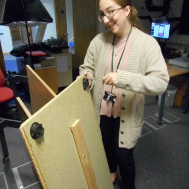 Cracking open the toolkit to build our digitization jig | Image courtesy of Warwickshire County Record Office