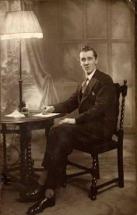A black and white photo of Edgar Ronald Gardner | Photo courtesy of Peter Gardner
