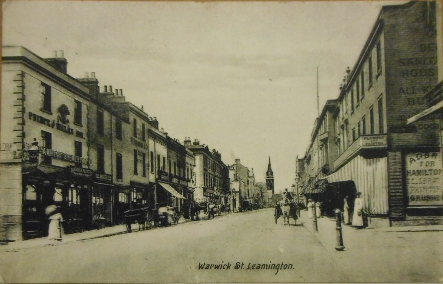 Photo of Warwick Street, Leamington, showing AE Maisey's shop, in 1908 |  Photo courtesy of Warwickshire County Record Office. Ref PH350/1421