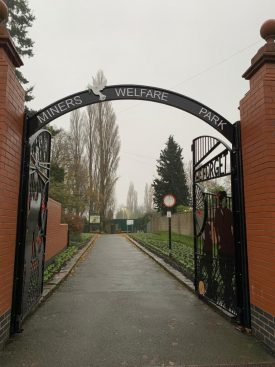 the Entrance to the Miner's Welfare Park in Bedworth that William helped to create.   | Image courtesy of Bridget Winn