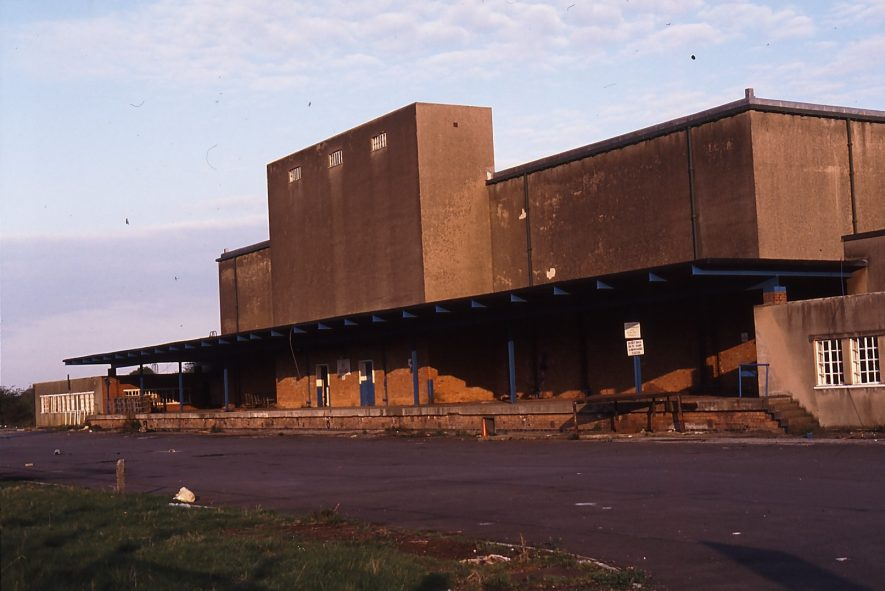Warwick. Cold Store, 1991. 50 cold stores were built in this country in 1942. Warwick was used up to 1990, and in the 1970s was used to store the European Butter Mountain It had its own railway siding with access to the Leamington to Birmingham mainline. | Image Courtesy Derek Billings