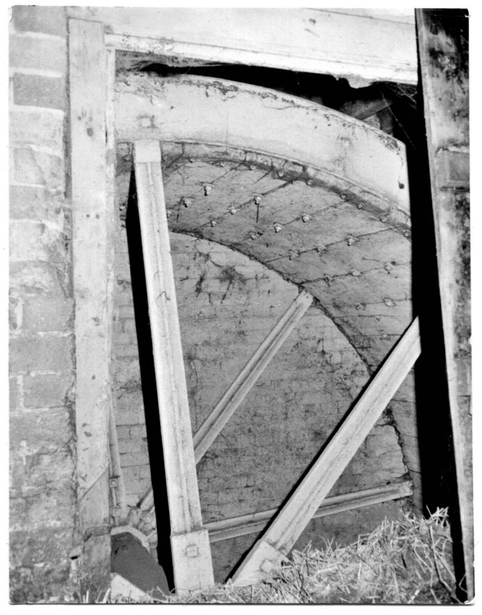 Cherington Mill. Breast-shot waterwheel, c4m X 1.5m, by Bagnall of Todenham, March 1970 | Image courtesy of June Booth