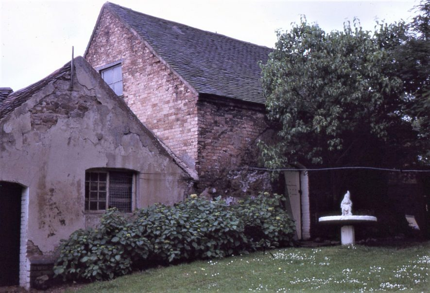 Arbury. Arbury Mill. Rear wall of mill, July 1971 | Image courtesy of Tim Booth