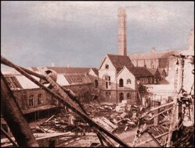 Photo of the bombed factory site of J&J Cash, Coventry | Image courtesy of Alfie C, Wikimedia Commons