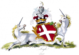 An image of the Coat of Arms of the Barons of Leigh