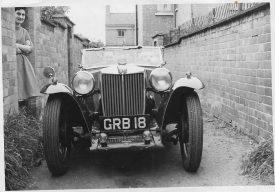 My father's MG TB Midget in the alley alongside Brunswick Street | Image courtesy of Gary Stocker