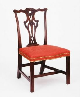 An image of an 18th century chair with red seat | © Victoria and Albert Museum, London