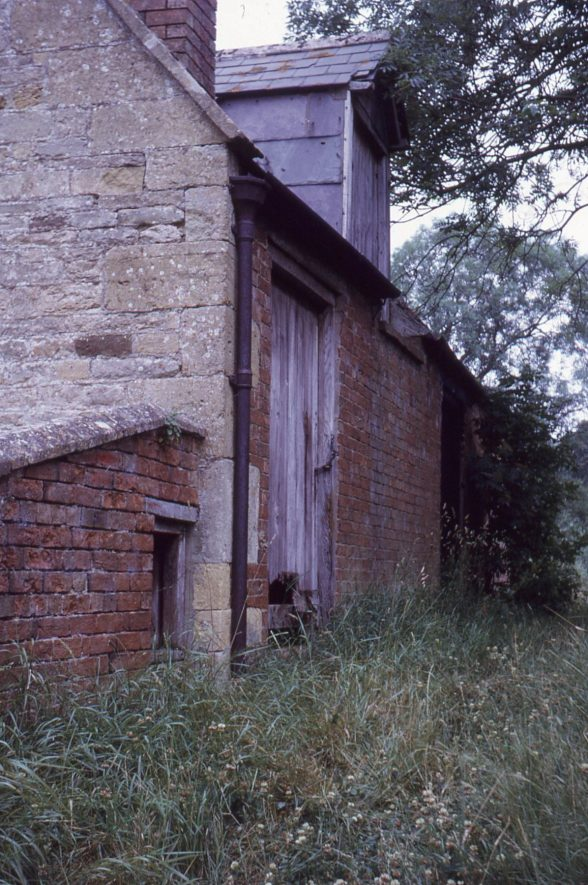 Weston Mill, Cherington, May 1973. Access to the stone floor (first floor) from the dam. | Image courtesy of Tim Booth