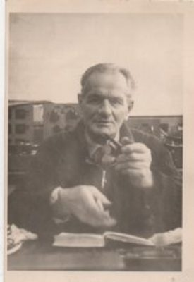 Photo of August Schneider, about 1959, at the G.E.C. Test Laboratory, Coventry. | Photo courtesy of the Schneider family