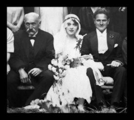 Photo of August and Thea's wedding photo, 1926 | Photo courtesy of the Schneider Family