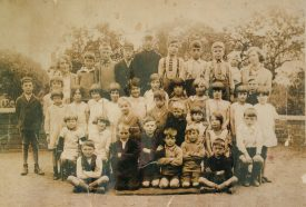 Mrs. Mills and pupils at Astley School, c. 1922 | Image courtesy of Janet Meusel
