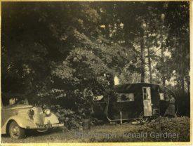 Photo of Ronald Gardner's home-built caravan | Photo courtesy of Peter Gardner