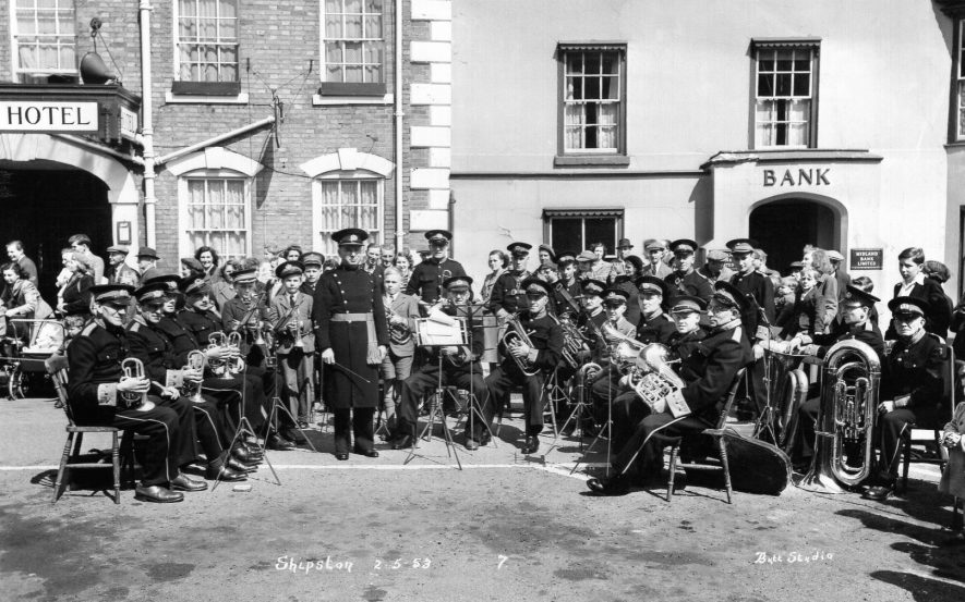 Shipston Town Band, May 1953. | Image supplied by Richard Furniss. Butt Studio
