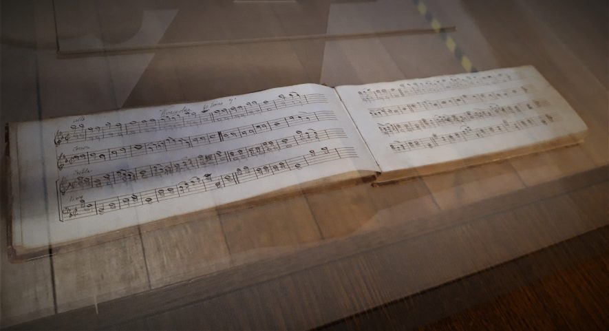 'Part book' of church music from Morton Morrell church c.1868   Image courtesy of Louise Jennings