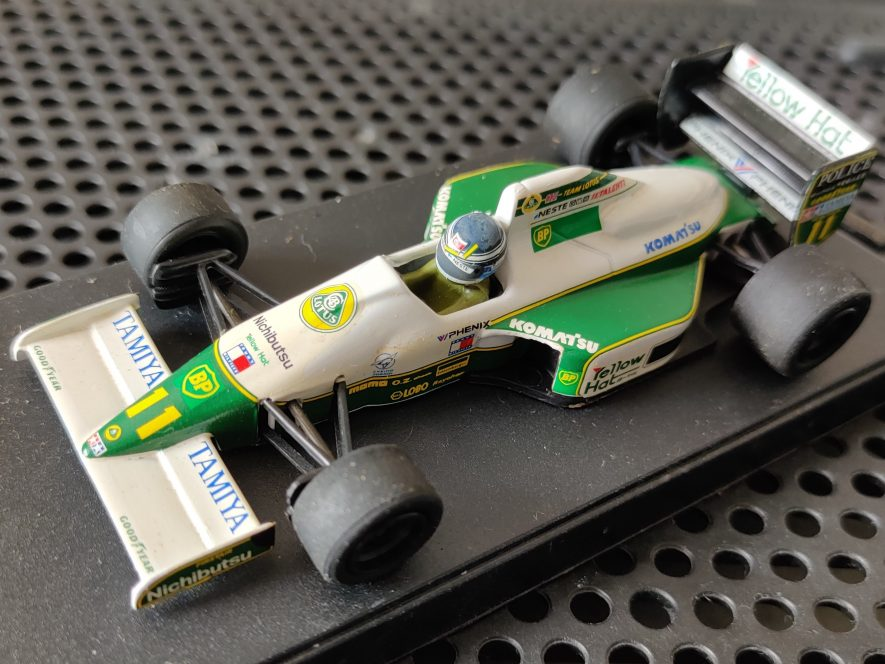 The closest I'll get to Mika Hakkinen's 1991's Lotus-Judd 102B... the Onyx scale model. | Image courtesy of Benjamin Earl