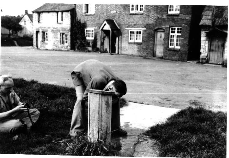 Butlers Marston. Bank Tap, the domestic water source in village, c. 1955 | Image courtesy of David Hansford