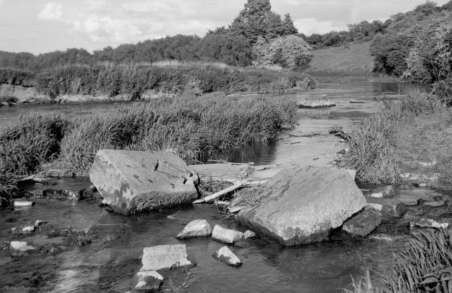 The remains of Welford Lower (New) Lock. 1970. | Copyright Richard Pearson