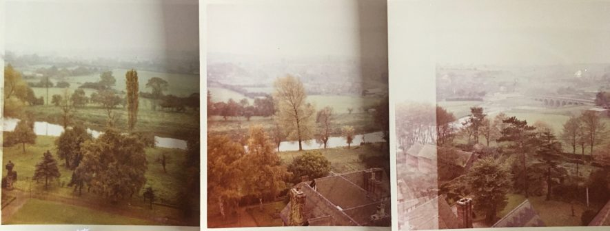 Taken from the top of Polesworth Abbey in 1956 or 1957. I attempted to achieve a panoramic effect but didn't quite manage to get the angles right.