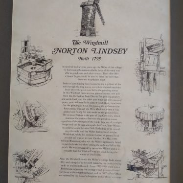 Norton Lindsey windmill information document | Document created by Nick Westby's parents in 1971