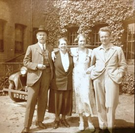 Ernest, Cicely, daughter Cicely Jr and her husband, Norman Singleton   Image supplied by Christine Cluley, courtesy of the family of Cicely Lucas
